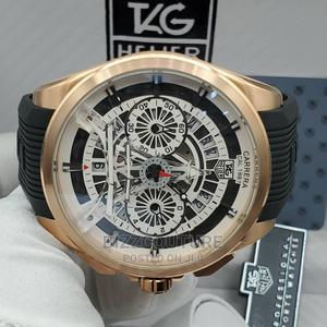 High Quality TAG HEUER Black Rubber Band Watch. For Men   Watches for sale in Abuja (FCT) State, Asokoro