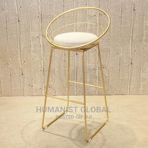 Foreign Metal Golden Bar Stool   Furniture for sale in Abuja (FCT) State, Wuse