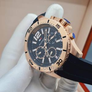 High Quality TOMMY HILFIGER Gold Dial Rubber Band for Men   Watches for sale in Abuja (FCT) State, Asokoro