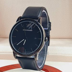 High Quality EMPORIO ARMANI Black Leather Watch for Men   Watches for sale in Abuja (FCT) State, Asokoro