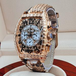 High Quality FRANCK MULLER Brown Leather Watch for Men's   Watches for sale in Abuja (FCT) State, Asokoro
