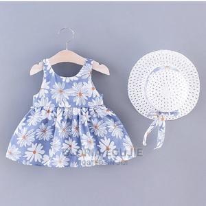 2 Piece Daisy Print Bowknot Decor Sleeveless Baby Set | Children's Clothing for sale in Abuja (FCT) State, Dutse-Alhaji