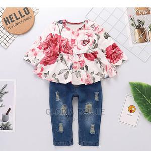 2 Piece Floral Print Decor Long Sleeve Baby Set | Children's Clothing for sale in Abuja (FCT) State, Dutse-Alhaji