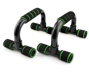 Push-Up Stands Bars - Green   Sports Equipment for sale in Lagos State, Surulere