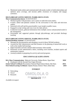 Housekeeping Cleaning CV | Housekeeping & Cleaning CVs for sale in Abuja (FCT) State, Kado
