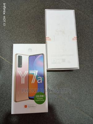 New Huawei Y7a 128 GB Blue   Mobile Phones for sale in Lagos State, Agege