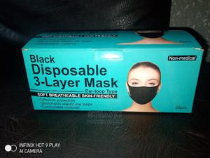 Black Disposable 3-Layer Mask | Medical Supplies & Equipment for sale in Lagos State, Lagos Island (Eko)