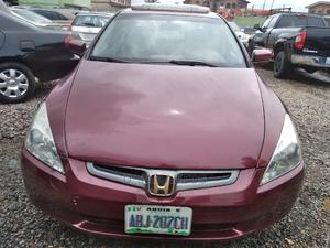 Honda Accord 2006 Sedan EX Automatic Red | Cars for sale in Lagos State, Agege