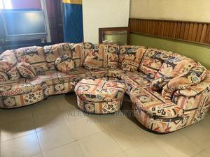 Complete Multi Colored Set of Sofa and Ottoman | Furniture for sale in Lagos State, Amuwo-Odofin