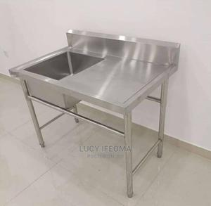 Single Industrial Sink With Side Stool | Restaurant & Catering Equipment for sale in Lagos State, Ojo