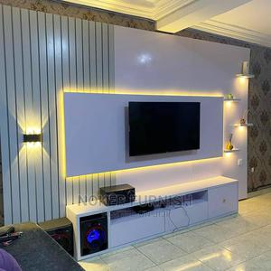 Luxury. TV Stand Console With LED Lights   Furniture for sale in Lagos State, Magodo