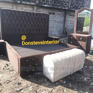 7by6 Upholstery Bed Frame | Furniture for sale in Lagos State, Ojo