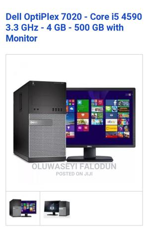 New Desktop Computer Dell OptiPlex 7040 4GB Intel Core I5 HDD 500GB | Laptops & Computers for sale in Lagos State, Ikeja