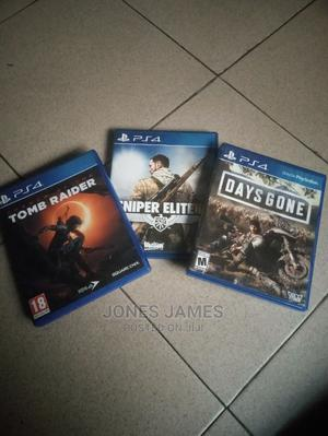 Tomb Raider, Days Gone and Sniper Elite God of War No Case   Video Games for sale in Rivers State, Port-Harcourt