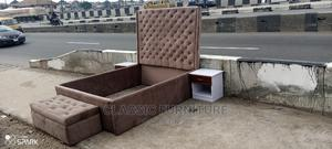 Quality Upholstery Bed 4 by 6 With Two Bedside and Ottoman | Furniture for sale in Lagos State, Ikeja