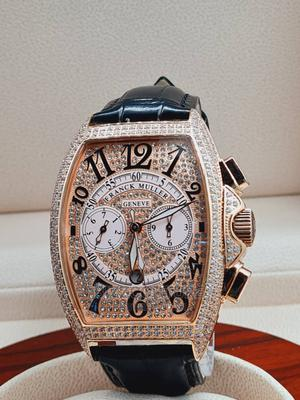 High Quality FRANCK MULLER Black Leather Watch for Men   Watches for sale in Abuja (FCT) State, Asokoro