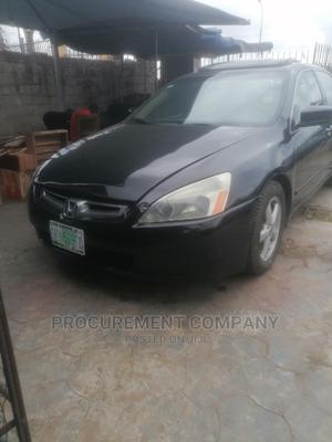 Honda Accord 2005 Sedan LX Automatic Black | Cars for sale in Lagos State, Ojo