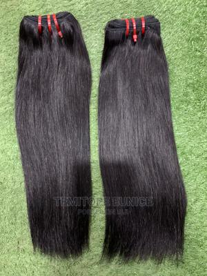 14 Inches Double Drawn Straight Human Hair   Hair Beauty for sale in Lagos State, Ojodu
