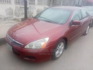 Honda Accord 2007 Sedan EX-L Automatic Red | Cars for sale in Lagos State, Surulere