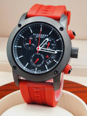 High Quality BURBERRY Red Rubber Band Black Dial for Men   Watches for sale in Abuja (FCT) State, Asokoro