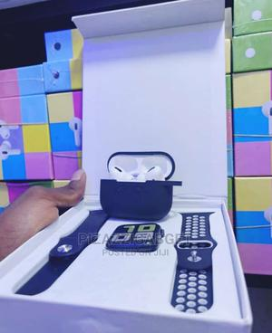 T55 Smart Watch With Airpod Pro and Pouch   Smart Watches & Trackers for sale in Lagos State, Ikeja
