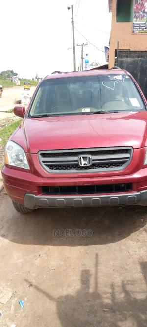 Honda Pilot 2005 EX 4x4 (3.5L 6cyl 5A) Red | Cars for sale in Lagos State, Magodo