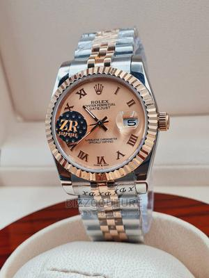 High Quality ROLEX Gold Sliver Chain Watch for Men   Watches for sale in Abuja (FCT) State, Asokoro