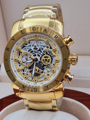 High Quality BVLGARI Gold Stainless Steel Watch for Men   Watches for sale in Abuja (FCT) State, Asokoro
