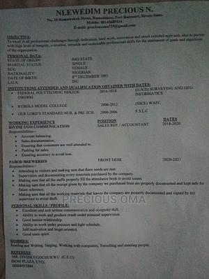 Office CV   Office CVs for sale in Rivers State, Obio-Akpor