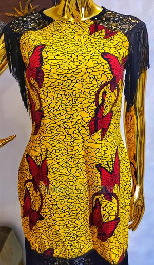 Ada Vintage African Prints Midi Dress | Clothing for sale in Lagos State, Surulere