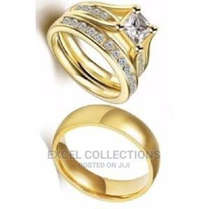 Solid Engagement/Wedding Ring(3piece Set)Gold Plated Steel R | Wedding Wear & Accessories for sale in Lagos State, Surulere