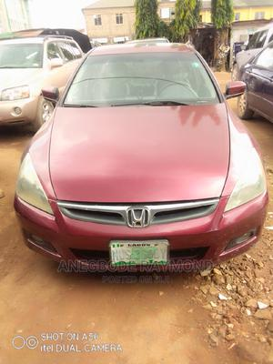 Honda Accord 2006 Coupe LX 3.0 V6 Automatic Red | Cars for sale in Lagos State, Agege