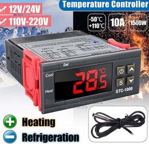 Digital Temperature Controller Two Relay Sensor Thermostat | Accessories & Supplies for Electronics for sale in Lagos State, Ikoyi