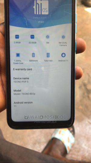 Tecno Pop 5 16 GB Blue | Mobile Phones for sale in Osun State, Osogbo