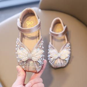 Big Girls Gold Shimmer Shoe | Children's Shoes for sale in Lagos State, Alimosho
