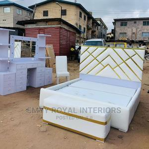 Quality 6x6 Padded Bed With Ottoman | Furniture for sale in Abuja (FCT) State, Central Business District