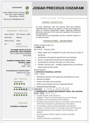 Teaching CV | Teaching CVs for sale in Lagos State, Agege
