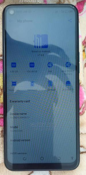 Tecno Camon 17 128 GB Blue   Mobile Phones for sale in Lagos State, Ajah