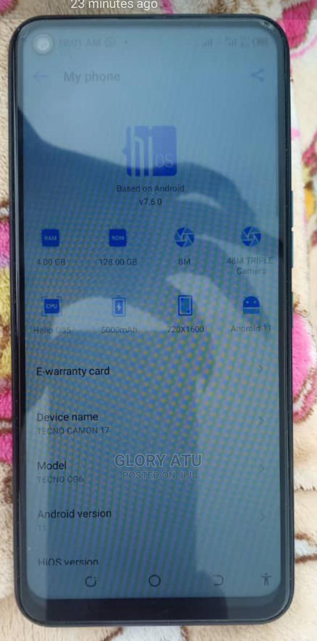Archive: Tecno Camon 17 128 GB Blue