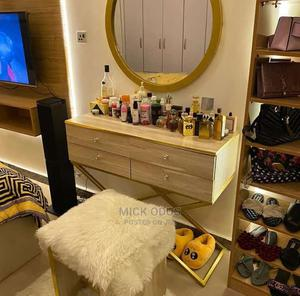 Console With Gold Mirror | Furniture for sale in Abuja (FCT) State, Lugbe District