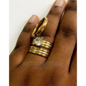 Silver and Gold Wedding Ring Set | Wedding Wear & Accessories for sale in Lagos State, Surulere