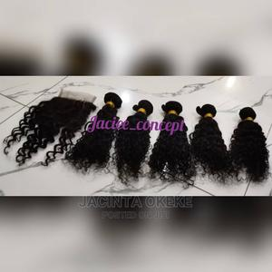 16 Inches 250g Kinky Curls With Closure   Hair Beauty for sale in Abuja (FCT) State, Gwarinpa