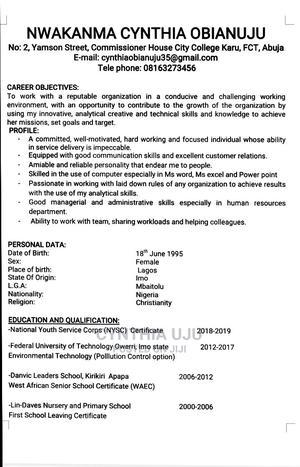 Accounting & Finance CV | Accounting & Finance CVs for sale in Abuja (FCT) State, Karu
