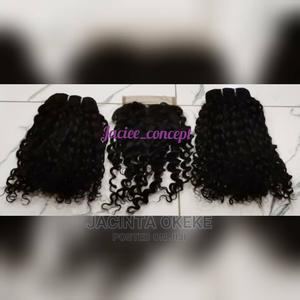 14 Inches 200g Pixie Curls With Closure   Hair Beauty for sale in Abuja (FCT) State, Gwarinpa