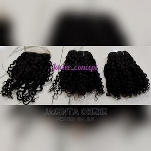 12 Inches 200g Pixie Curls With Closure   Hair Beauty for sale in Abuja (FCT) State, Gwarinpa