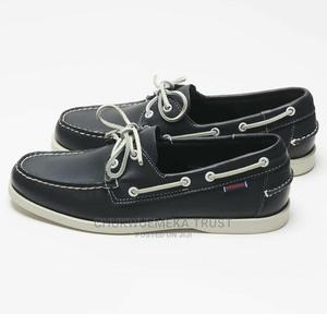 Sebago Docksider Pure Leather Casual Shoe-Black.   Shoes for sale in Lagos State, Ikeja