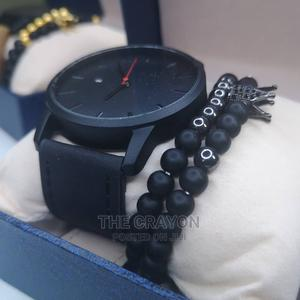 Black Quality Leather Wristwatch | Watches for sale in Lagos State, Ikorodu