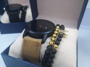 Brown Quality Leather Wristwatch With Stone Bead Bracelets   Watches for sale in Lagos State, Ikorodu