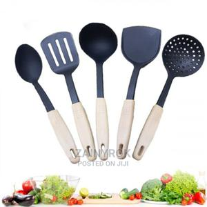 5 Pcs Plastic Nonstick Cooking Spoon Set | Kitchen & Dining for sale in Lagos State, Alimosho