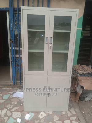 Metal Bookshelf With Glass | Furniture for sale in Lagos State, Ikoyi